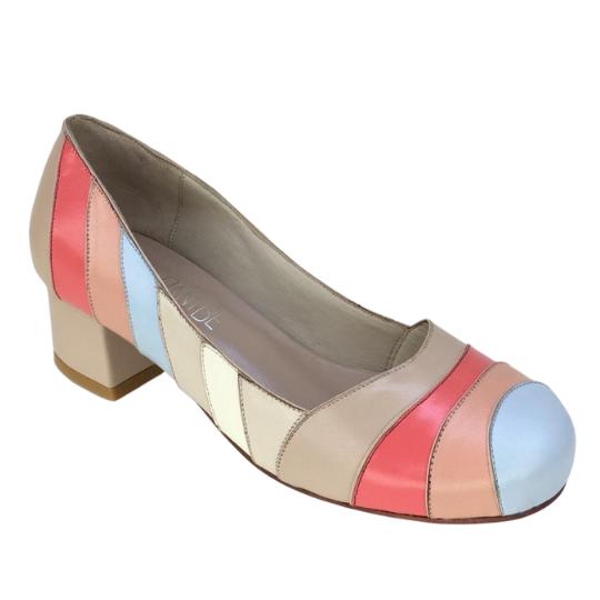 Sapato Rita Pelica Nude Rosado 4 cm