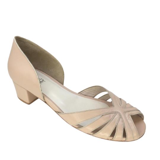 Sapato Samanta Pelica Nude Rosado 3,5 cm