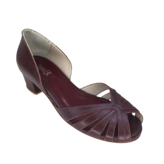 Sapato Samanta Pelica Vinho 3,5 cm