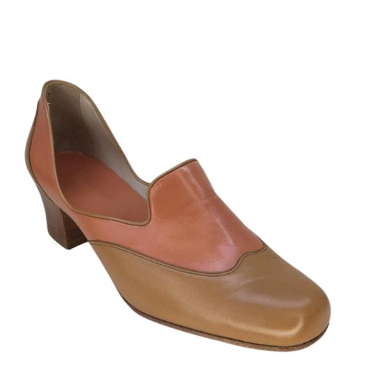 Sapato Simone Pelica Bicolor 4 cm