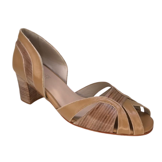Sapato Vênus Pelica Caramelo 5 cm