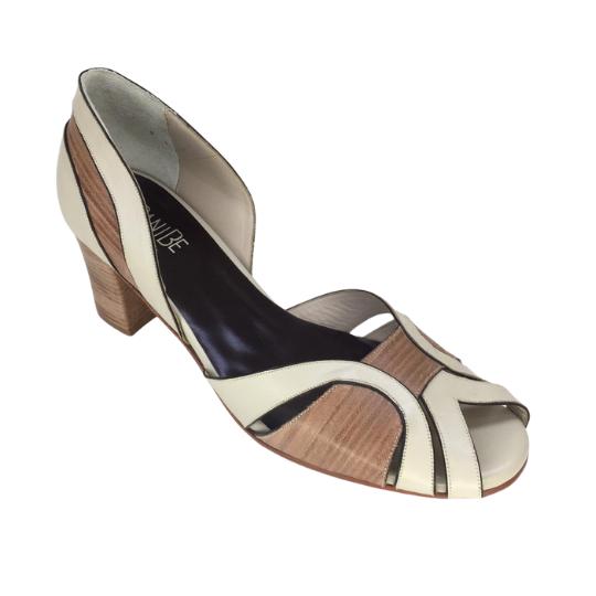 Sapato Vênus Pelica Off White 5 cm