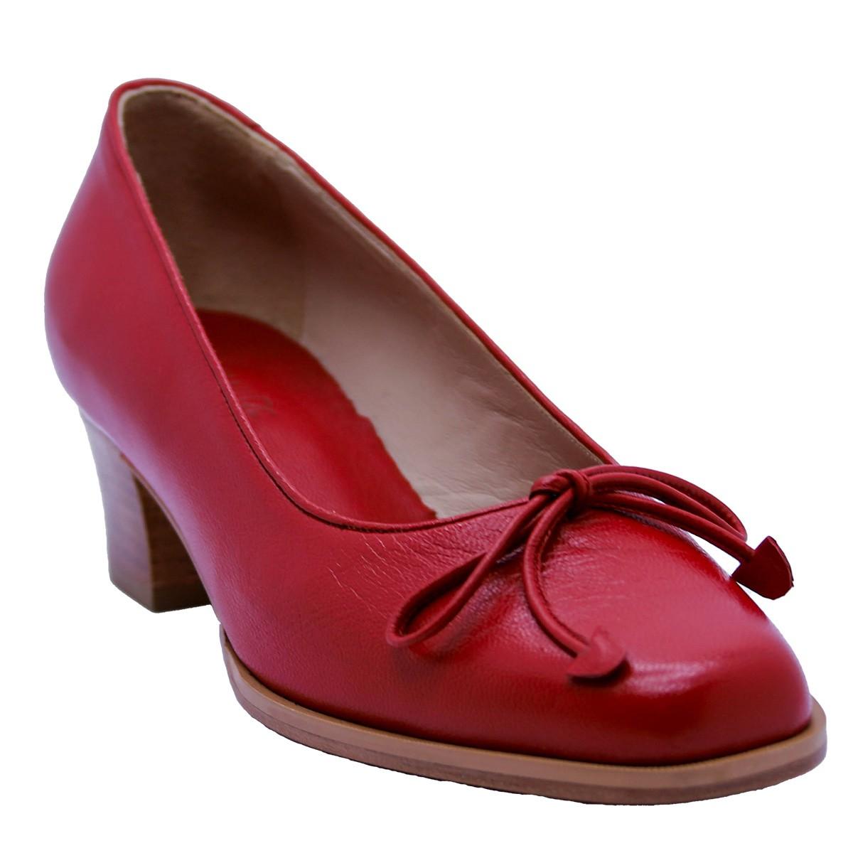 Scarpin Bailarina Mestiço Vermelho 4 cm