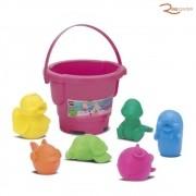 Brinquedo Baldinho Roma Coleção Bichinhos Rosa +18m