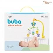Brinquedo Buba Móbile Musical Animais Com Canção de Ninar +3a