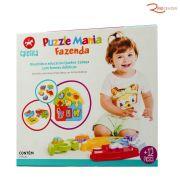 Brinquedo Calesita Puzzle Mania Fazenda +12m