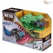 Brinquedo Candide Metal Machines Pista Croc Attack +4a