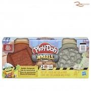 Brinquedo Hasbro Play-doh Wheels Massa de Construção Kit Pedra e Tijolo +3a