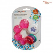 Brinquedo Multikids Baby Mordedor Resfriável Coll Play Azul +3m