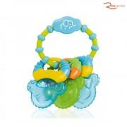 Brinquedo Multikids Baby Mordedor Resfriável Coll Rings Azul +3m