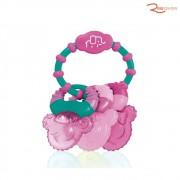 Brinquedo Multikids Baby Mordedor Resfriável Coll Rings Rosa +3m