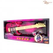 Brinquedo Toyng Guitarra Show Elétrica Rosa +4a