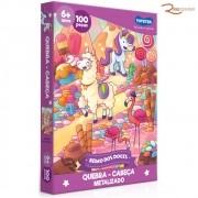 Brinquedo Toyster Jogo Quebra-Cabeça Reino dos Doces Metalizado 100 Peças +6a