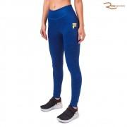 Calça Legging Fila Double Stripes Feminina Azul Marinho