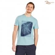 Camiseta Aramis Floral Outline Azul Piscina