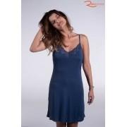 Camisola Recco Plural Lisa Com Renda Azul Sailor