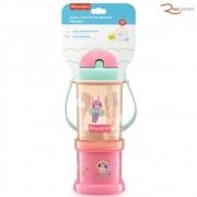 Copo Fisher-Price com Porta Snacks Playful Rosa +12m