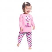 Pijama Longo Friends Kyly Rosa