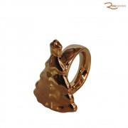 Porta Guardanapo D&A Árvore Natalina de Ceramica Dourada