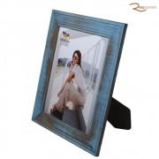 Porta Retrato BW Quadros 20x25 Borda Rústica Reta Azul
