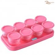 Pote Térmico Fisher-Price Prep & Fresh com 8 Unidades Rosa