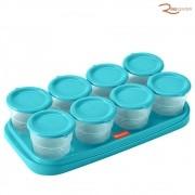 Pote Térmico Fisher-Price Prep & Fresh com 8 Unidades Azul