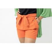 Shorts Liso Viscocrepe Insp Laranja