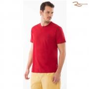 Camiseta Lisa com Gola Careca AD Vermelha