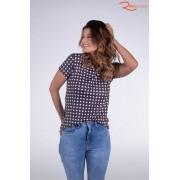 T-shirt Angel Club Malha Estampa de Bolinhas