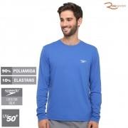 Camiseta Proteção Uv Manga Longa Speedo Masculina Azul