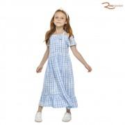 Vestido Colorittá Infantil Xadrex Azul