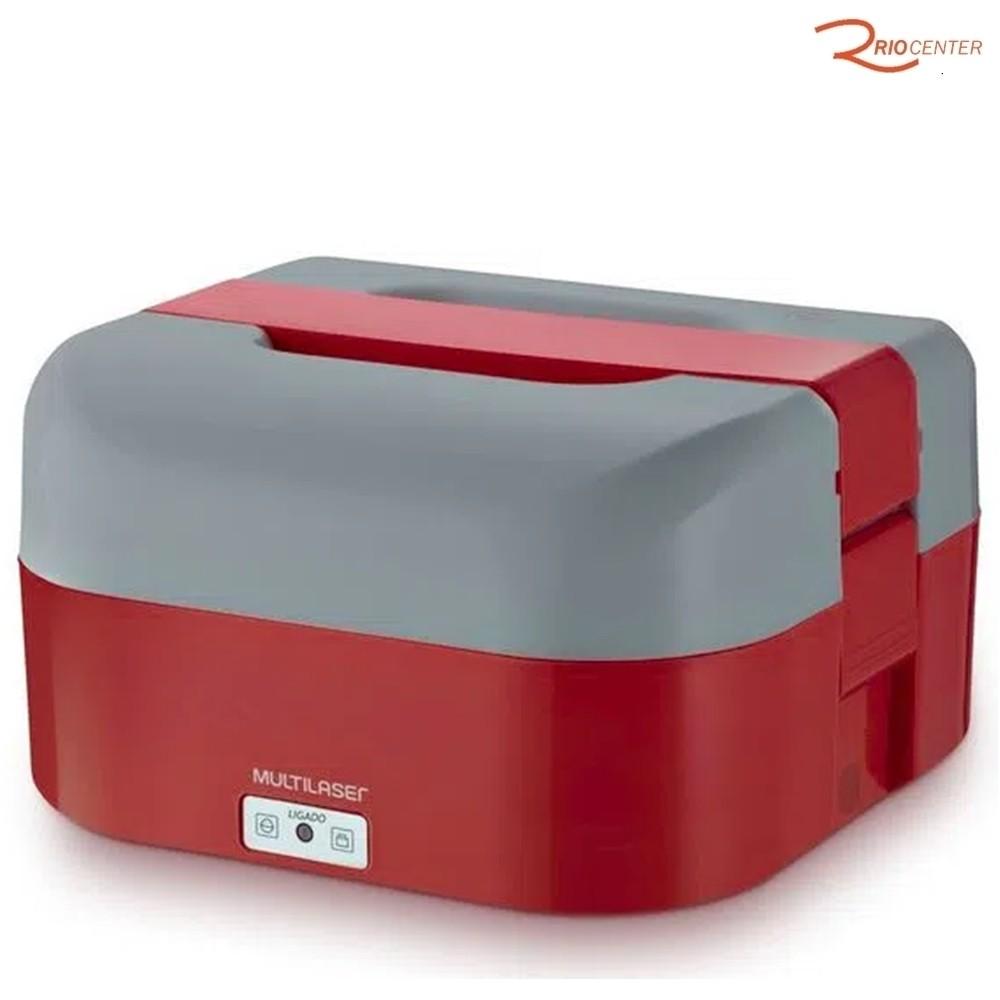 Aquecedor de Alimentos Multilaser Gourmet 1,6L Vermelha