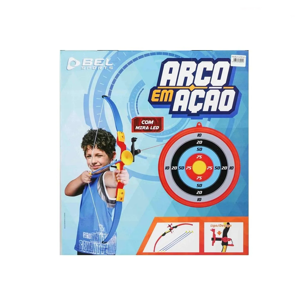 Arco E Flecha Com Mira Led Bel +3a