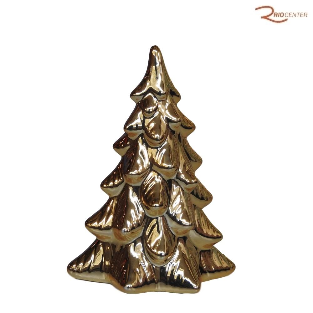 Árvore Natalina D&A em Cerâmica, Dourada 21cm