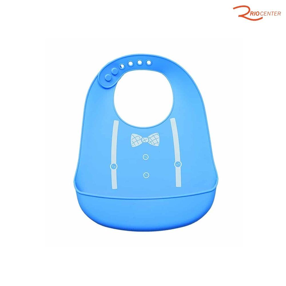 Babador de Silicone Buba Azul