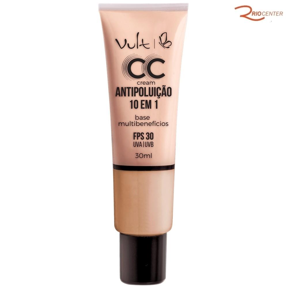 Base Vult CC Cream Antipoluição 10 em 1 MB02 Bege - 30ml