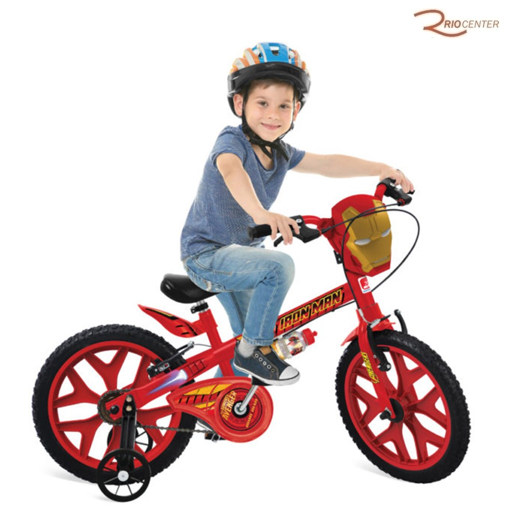 Bicicleta Bandeirante Aro 16 Homem De Ferro +5a