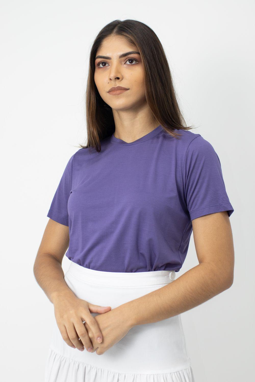 Blusa em Malha Micro Modal Cheroy Roxa