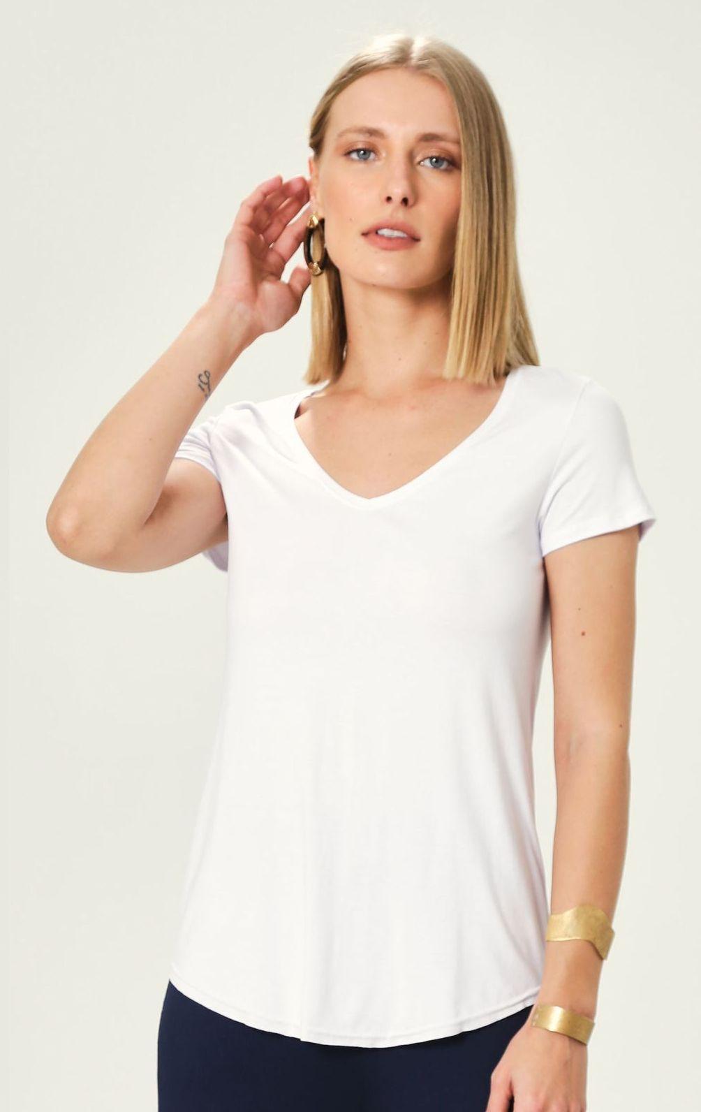 Blusa em Viscose Malwee Branca