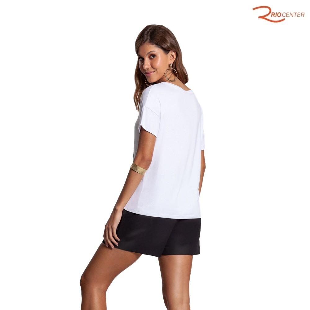 Blusa Lunender de Malha Mvs Thirty Plus Branco