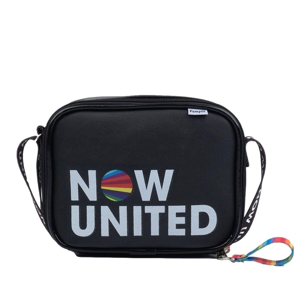 Bolsa Infantil Tiracolo Now United by Pampili com Zíper Personalizado Preta