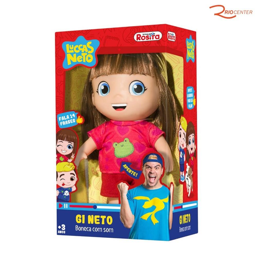 Boneca Gi Neto Frases Brinquedos Rosita +3a