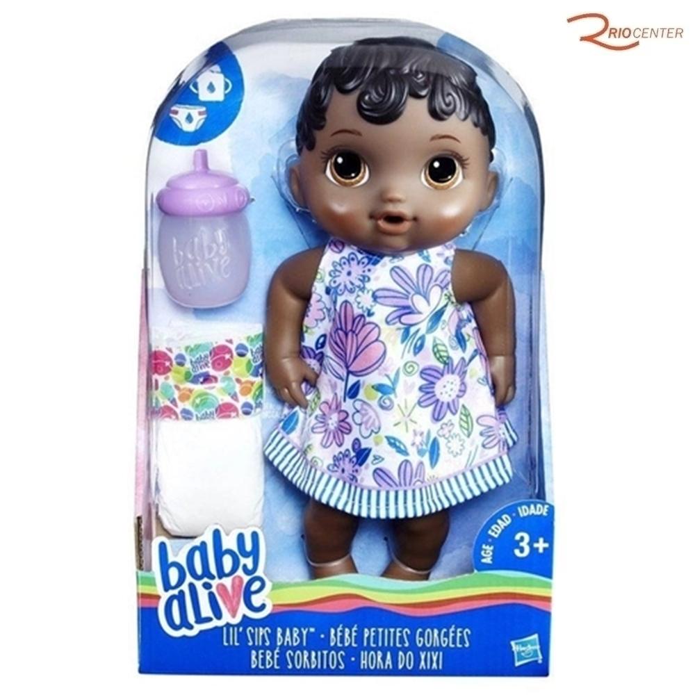 Baby Alive Hora do Xixi Negra Hasbro +3a