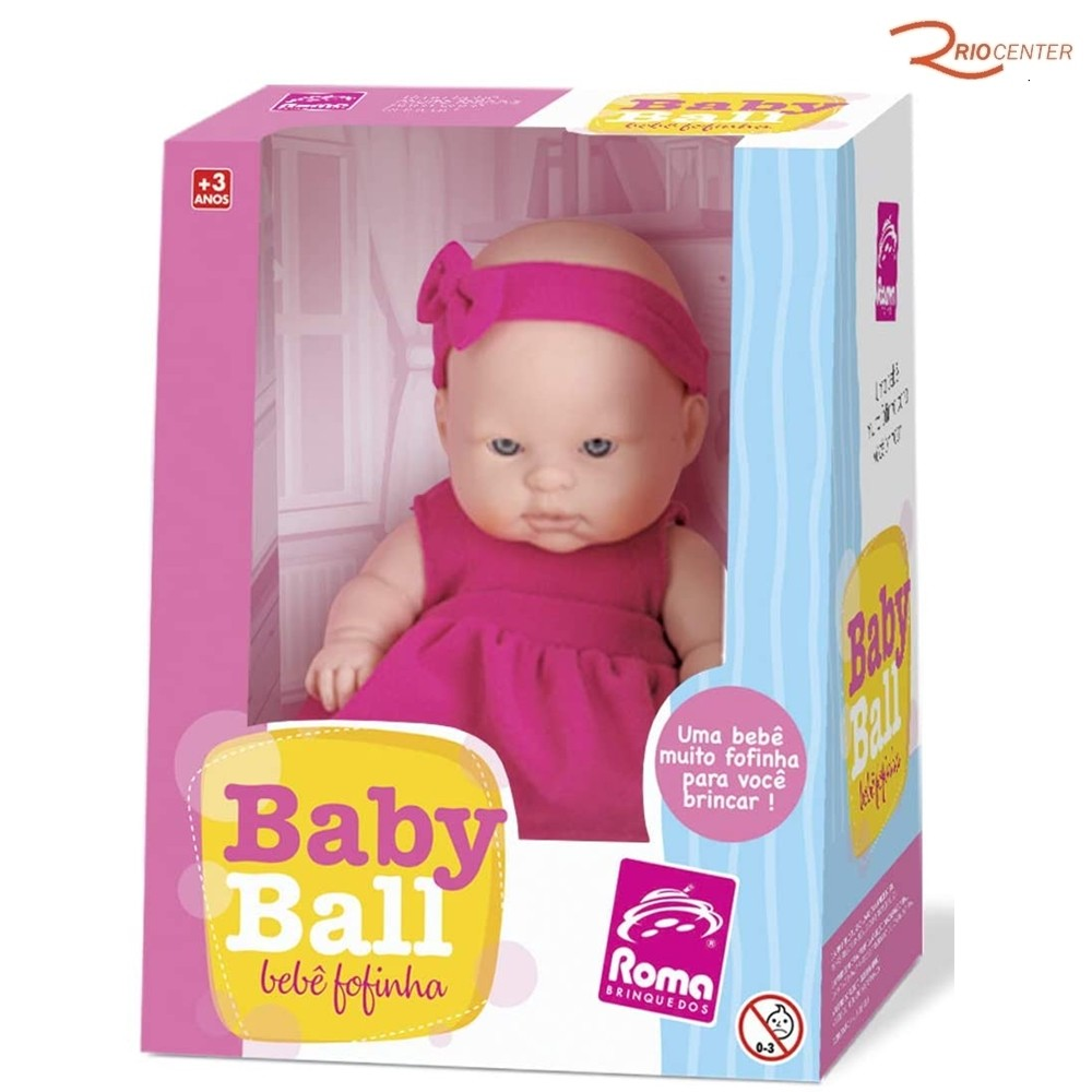 Brinquedo Boneca Roma Baby Ball Bebê Fofinha +3a