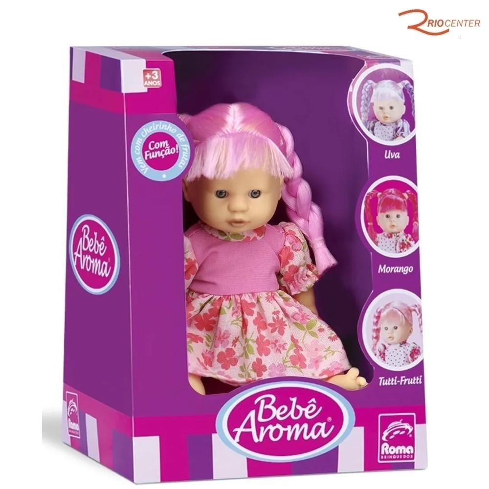Brinquedo Boneca Roma Bebê Aroma Tutti-Frutti +3a