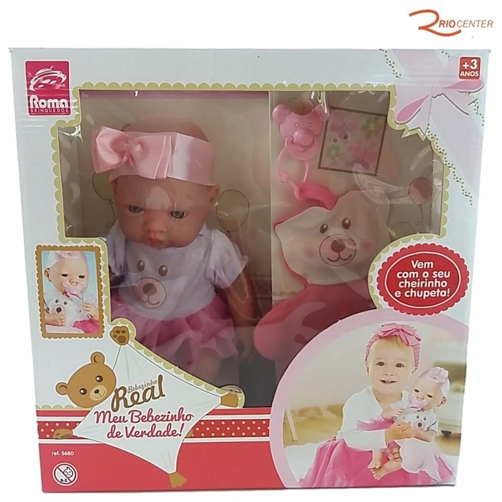 Brinquedo Boneca Roma Meu Bebezinho de Verdade +3a