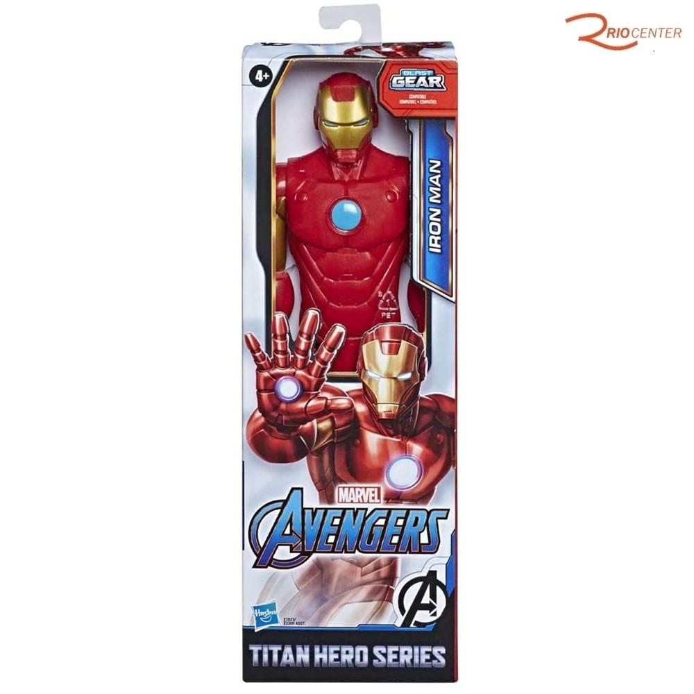 Brinquedo Boneco Hasbro Titan Hero Homem de Ferro Marvel +4a