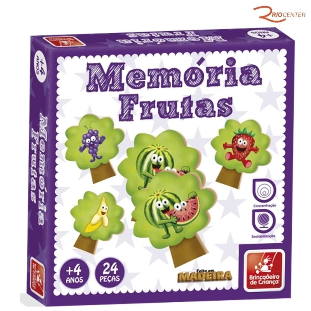 Jogo da Memória Memória Frutas Brincadeira de Criança +4a