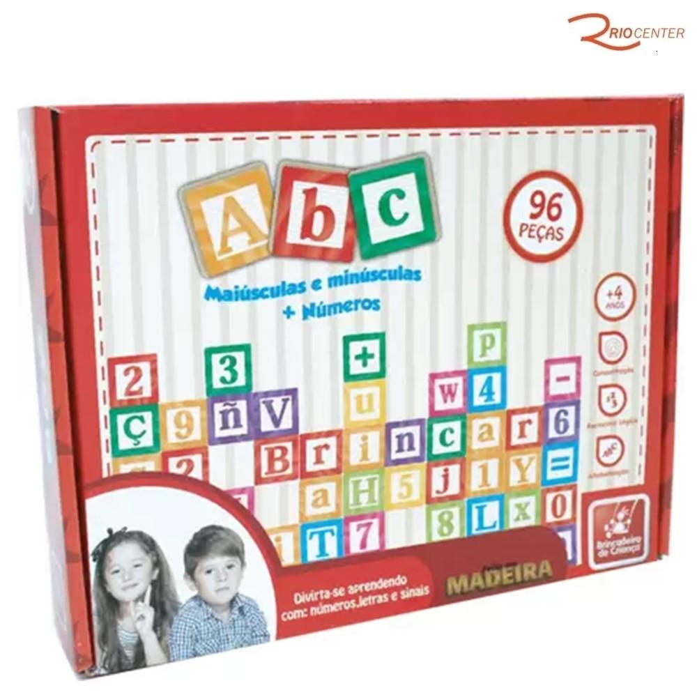Brinquedo Brincadeira de Criança Jogo de Montar ABC +4a