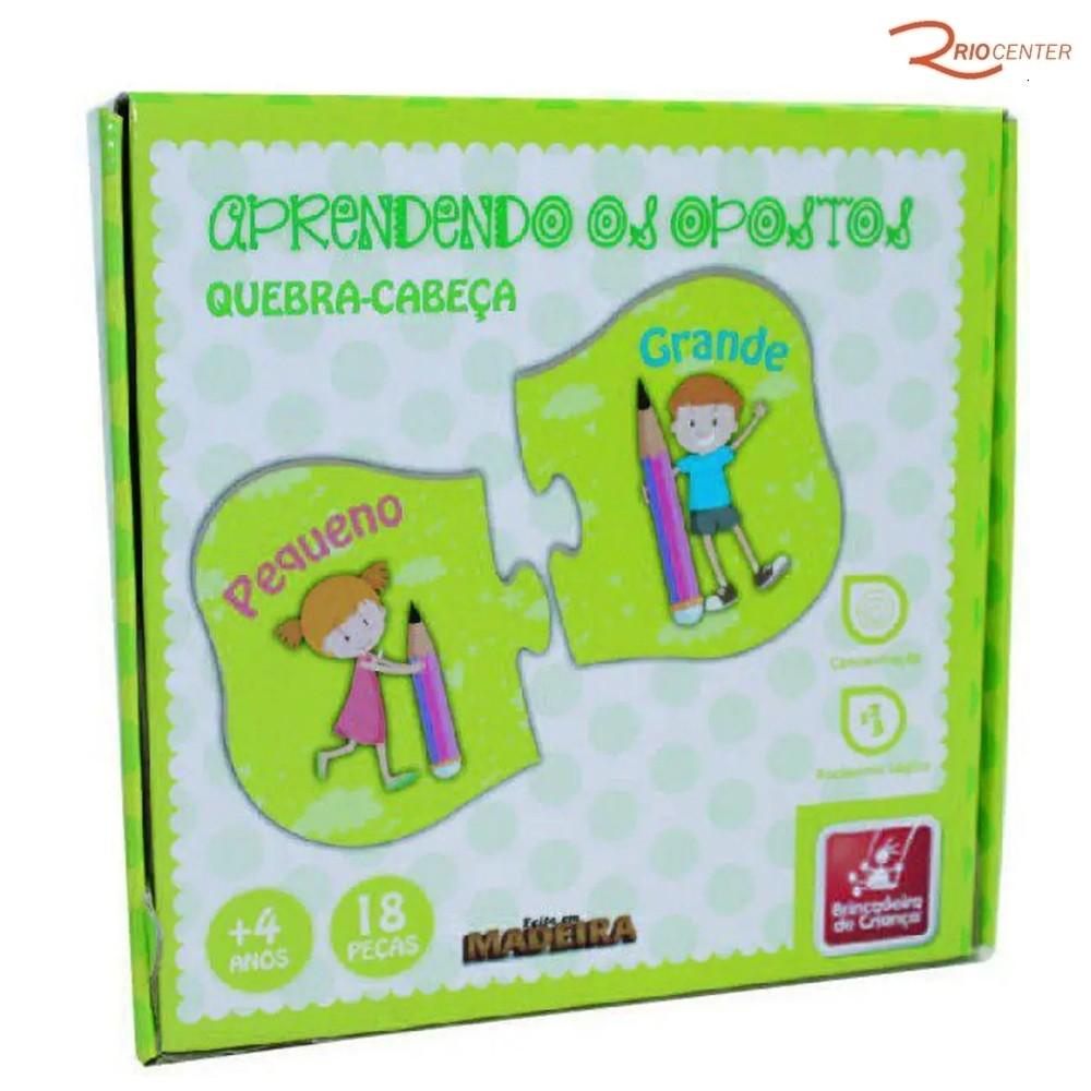 Brinquedo Brincadeira de Criança Quebra-cabeça Aprendendo os Opostos +4a